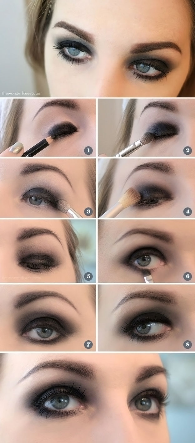 Eye makeup techniques for small eyes